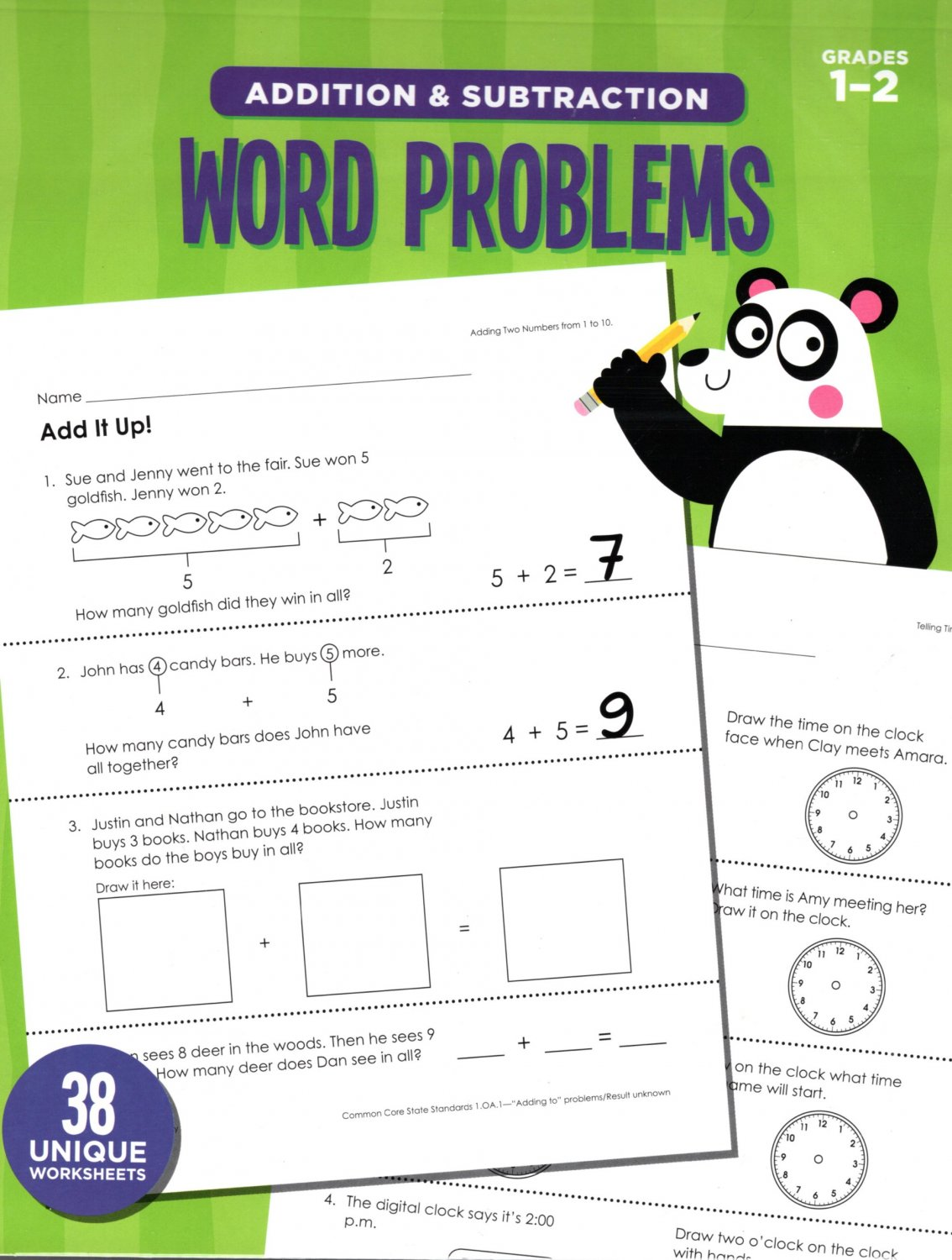 Addition And Subtraction Word Problems Reproducible
