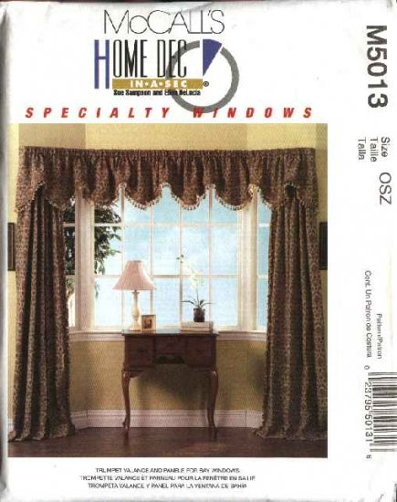 McCalls Sewing Pattern 5013 Trumpet Valance Curtain