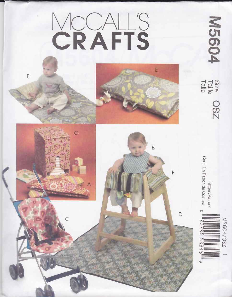 Restaurant High Chair Cover Mccall S Sewing Pattern 5604 Baby Infant Items Umbrella Stroller