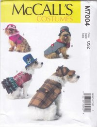 McCall's Sewing Pattern 7004 Crafts Dog Costumes Coat Hats ...