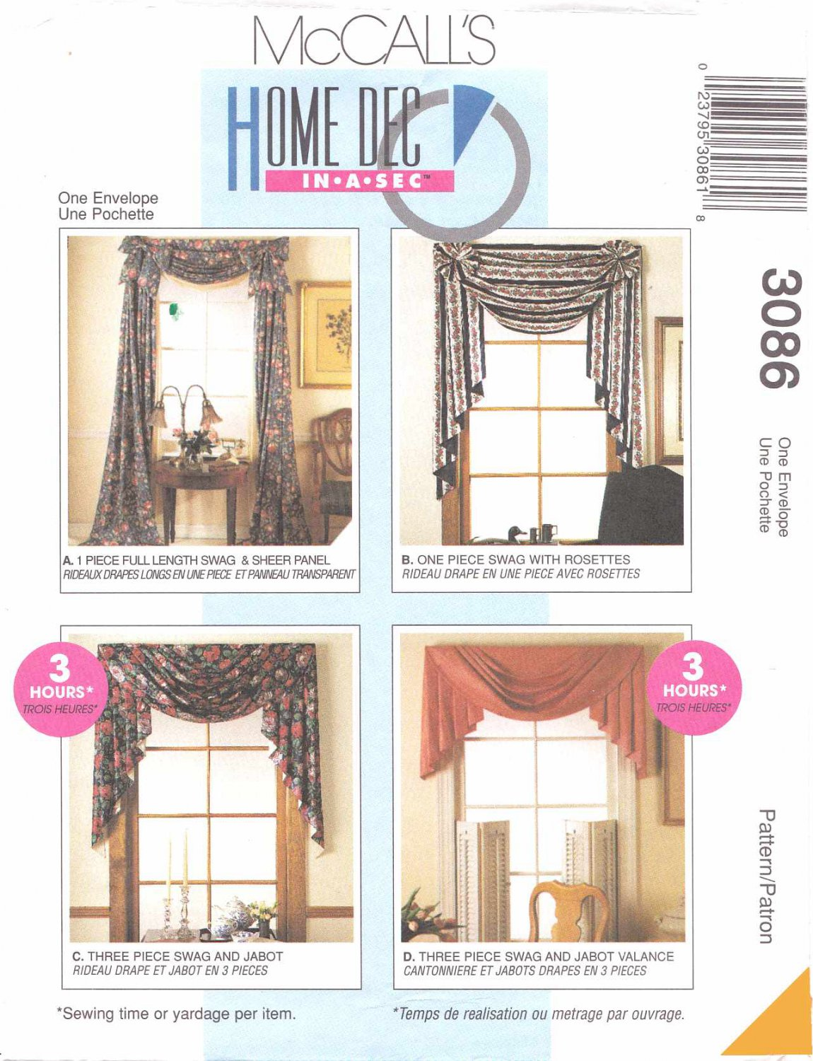 Mccall S Sewing Pattern 781 Window Treatments Swags