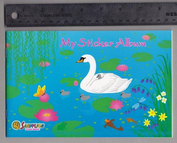 Sandylion Sticker Book Album Spring Swan Pond Lily Pad
