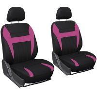 6PC Mesh Front Car Seat Headrest Cover Set Bucket Chair ...