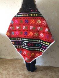 Crochet Native Shawl...Traditional Bulgarian Motives