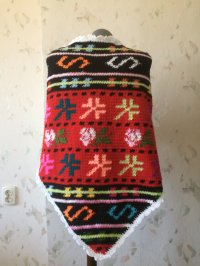 Crochet Native Shawl...Traditional Bulgarian Motives