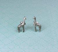 Cute Sterling Silver Giraffe Post Earrings