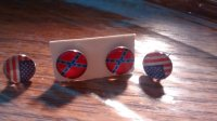 American Flag And Confederate Flag Earrings