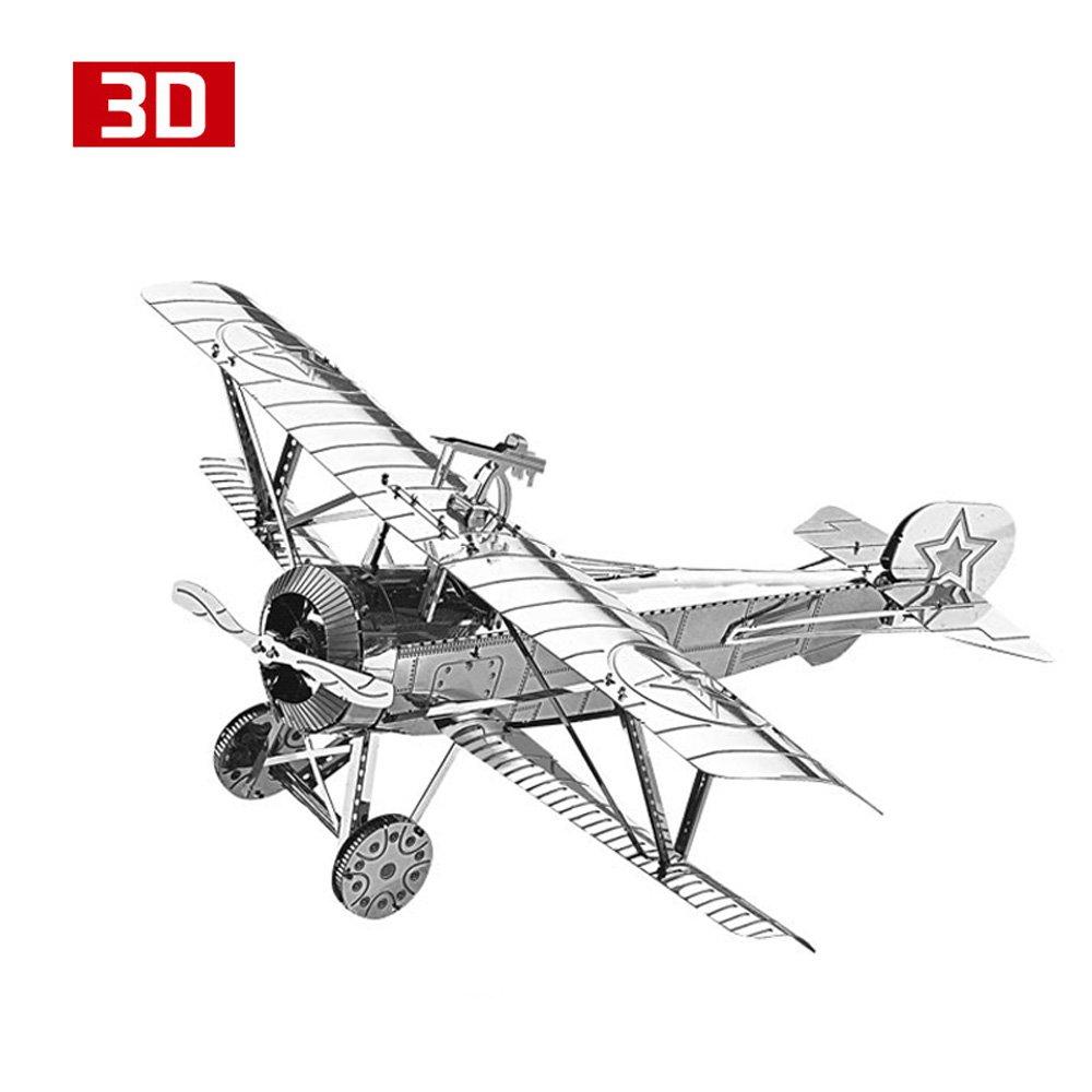 HK Nanyuan 3D Metal Nano Puzzle Niuboter 17 Airplane Model