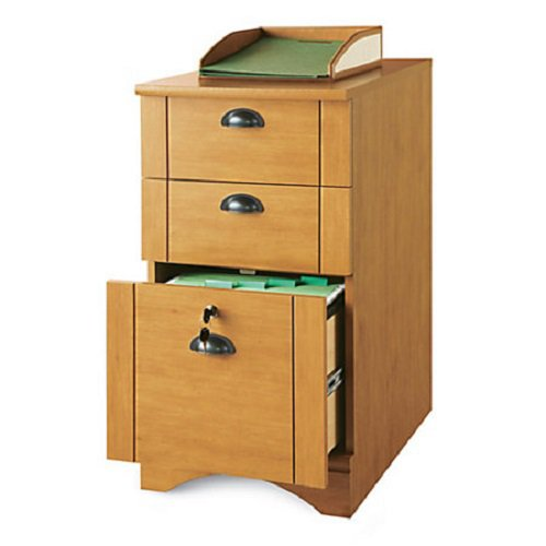 Realspace Dawson 3Drawer Vertical File Cabinet Canyon Maple