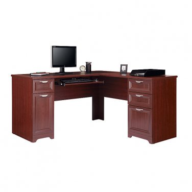 Realspace Magellan Collection LShaped Desk Classic Cherry