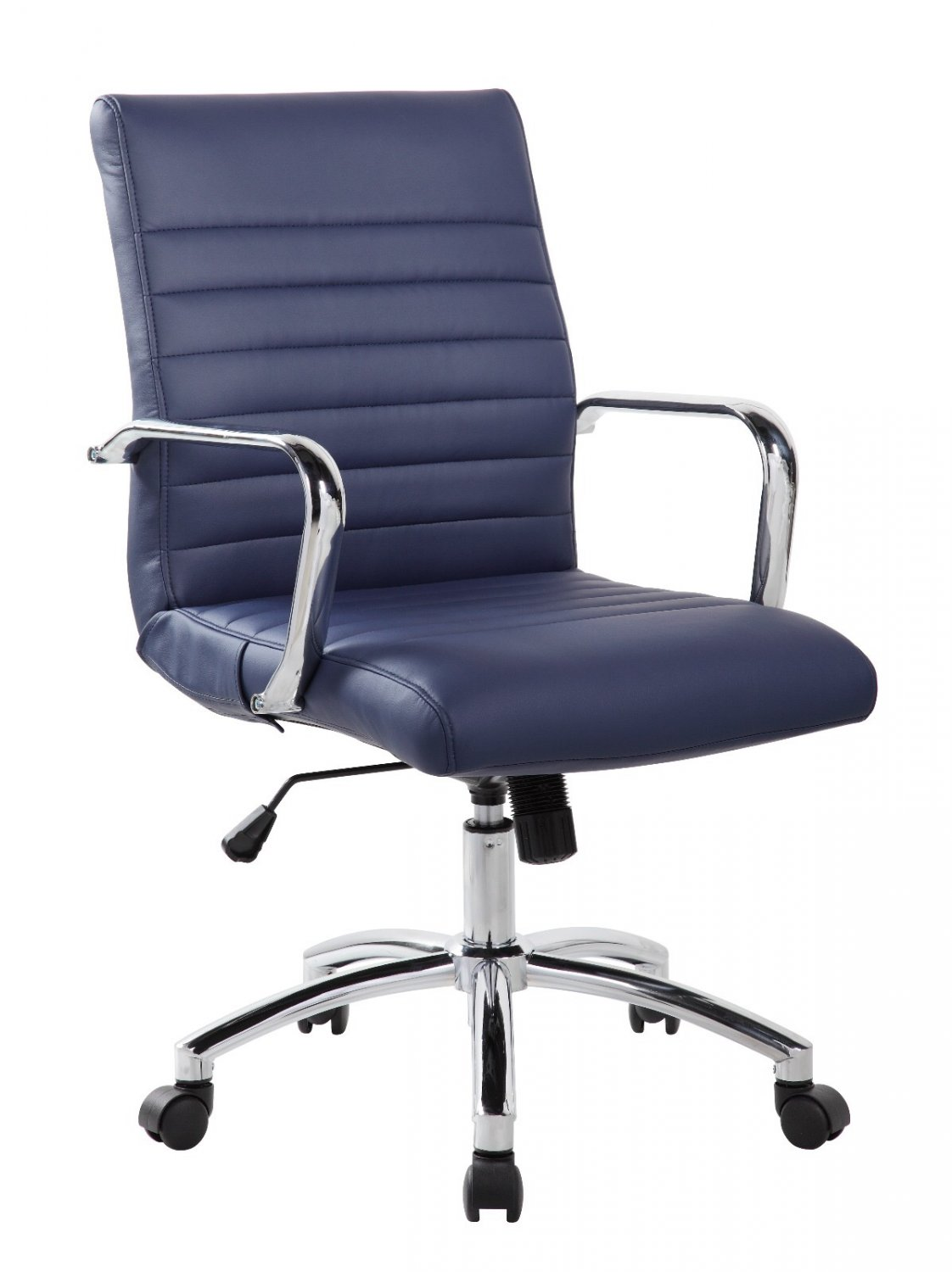 Realspace Chairs Realbiz Mid Back Ribbed Faux Leather Office Chair