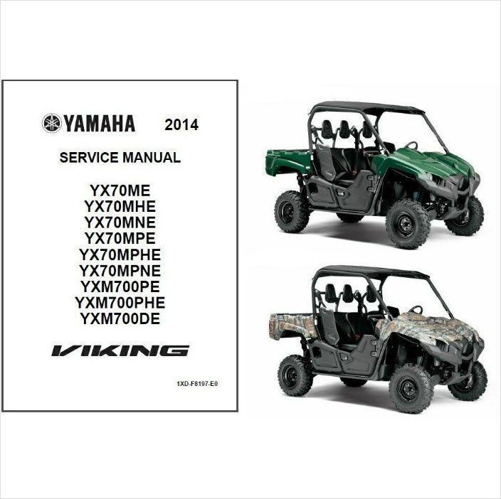 2014 Yamaha Viking FI 4x4 EPS UTV / ATV Service Repair