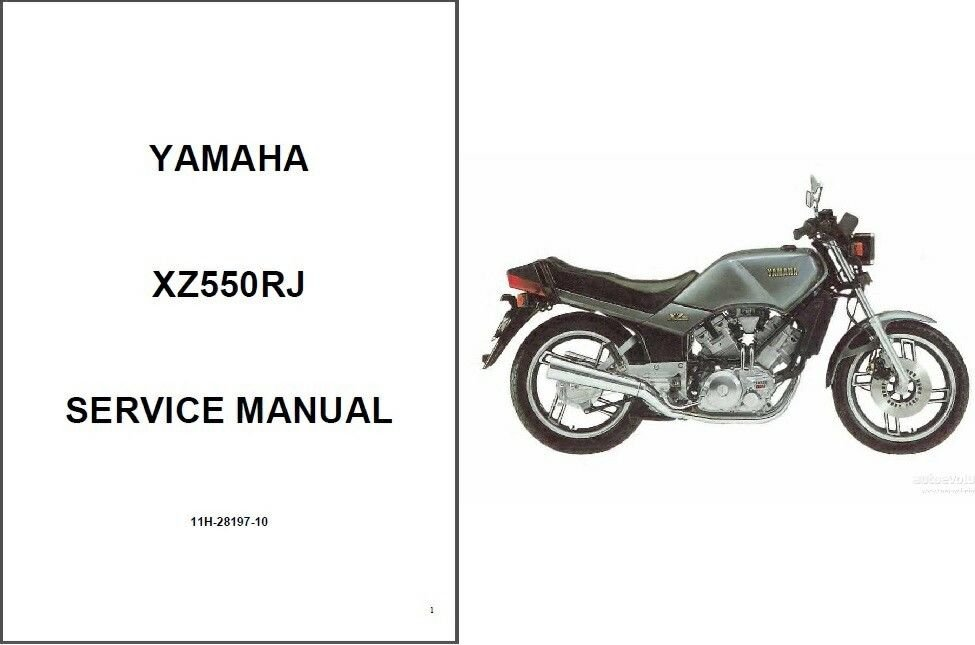 82-83 Yamaha XZ550 Vision 550 Service Repair & Parts