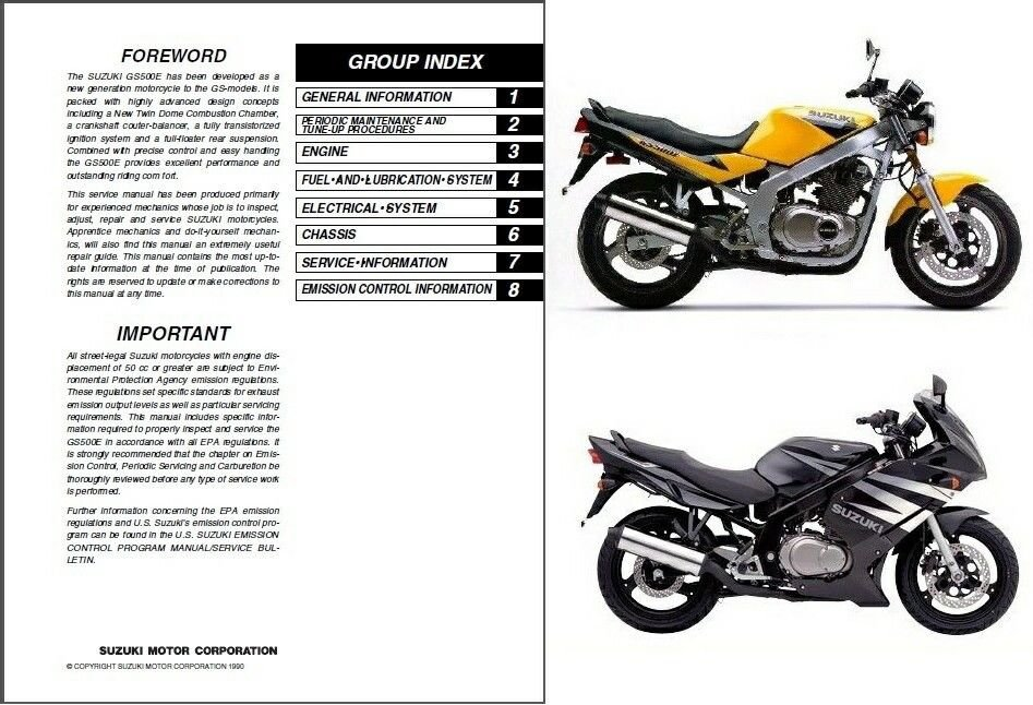 1989-2009 Suzuki GS500E / GS500F / GS500 Service Repair