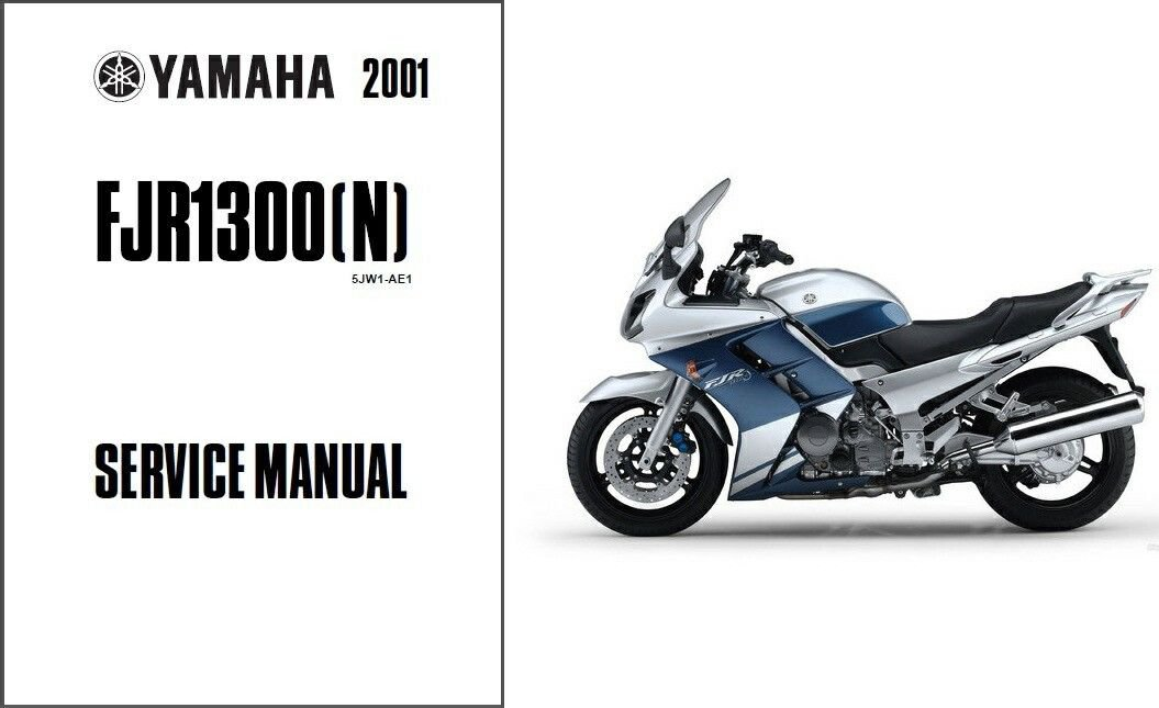 2001-2012 Yamaha FJR1300 Service & Owner's Manual on a CD