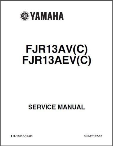 2001-2012 Yamaha FJR1300 Service & Owner's Manual on a CD