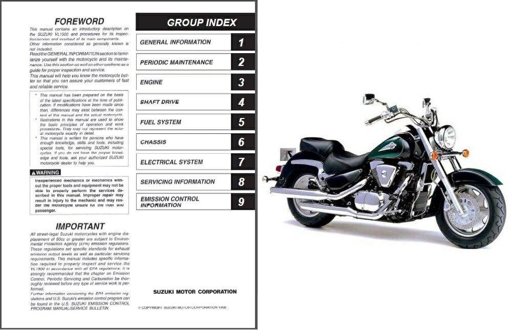 1998-2009 Suzuki VL 1500 Intruder LC / Boulevard C90