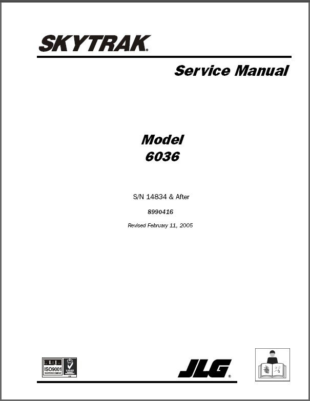 SKYTRAK 6036 Telescopic Forklift Service Manual CD