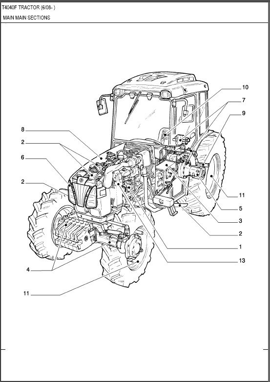 New Holland T4040F Tractor Parts Manual on a CD