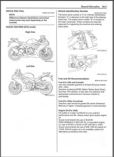 2010-2012 Suzuki GSX-R600 Service Repair Manual CD