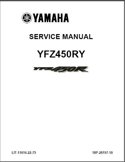 2009-2013 Yamaha YFZ450R ( YFZ 450 R ) ATV Service Repair