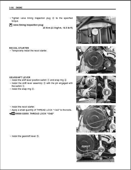 03-07 Suzuki LT-F500F Vinson 500 4x4 Service Repair Manual CD