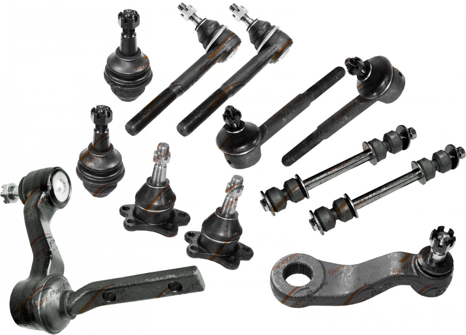Complete Kit Steering Tie Rod Linkages Ball Joints Links