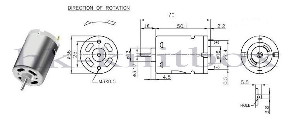 MOTOR for Garter Carriage Brother Knitting Machine KG88