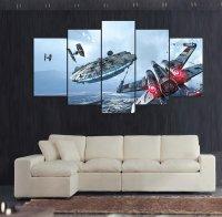 Star Wars 5 Piece Wall Art Canvas Prints (10x15cm, 10x20cm ...