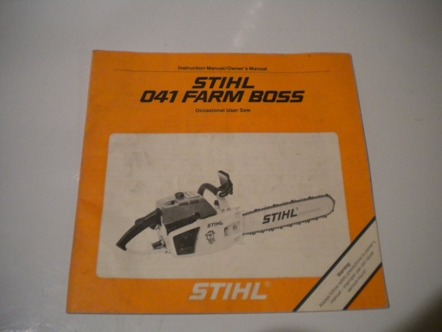 hight resolution of stihl 041 farm boss chainsaw owners manual instruction owner s chain saw