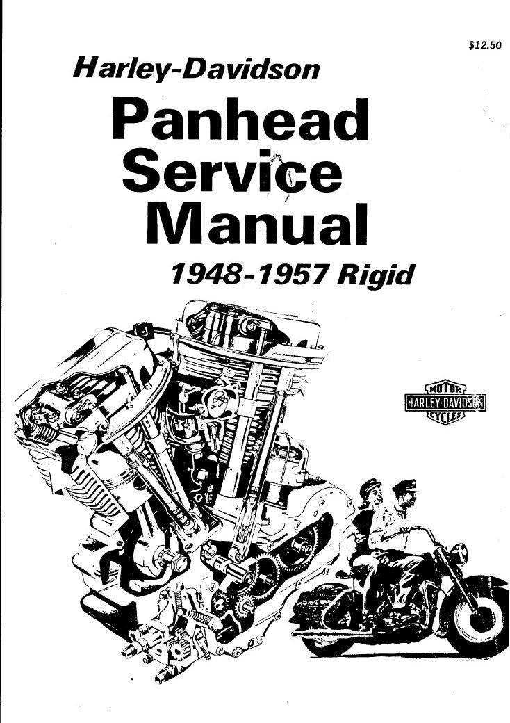 1948-1957 Panhead Harley-Davidson Rigid Service Manual