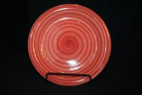 Philippe Richard red SWIRL hand-painted &crafted 10 1/2 ...