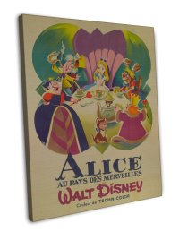 Alice In Wonderland Movie Wall Decor 20x16 FRAMED CANVAS Print