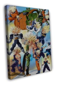 Dragon Ball Z Anime Wall Goku 20x16 Framed Canvas Print