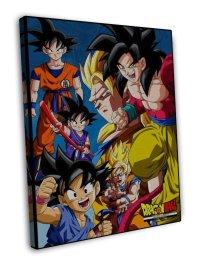 Dragon Ball Z Anime Wall Goku 16x12 Framed Canvas Print