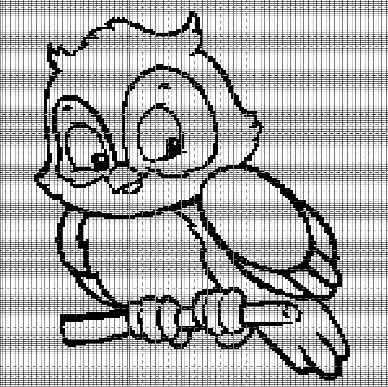 LITTLE OWL 2 CROCHET AFGHAN PATTERN GRAPH