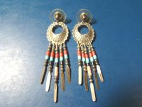 Zuni Q.T. silver sterling Native American Indian earrings ...