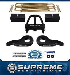 92 99 full lift kit chevy suburban tahoe gmc yukon 4wd 3 f 1 r w t tool pro [ 1200 x 1200 Pixel ]