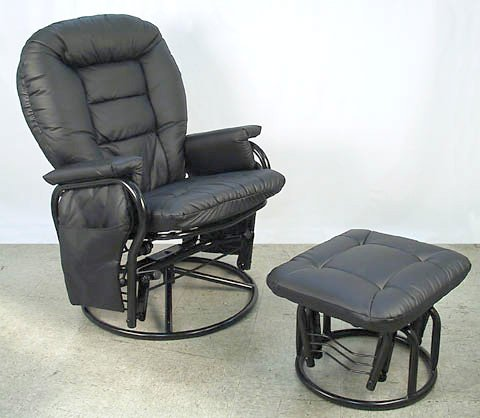 Giovanni Rizzo  360 degrees Swivel Glider Rocker Chair