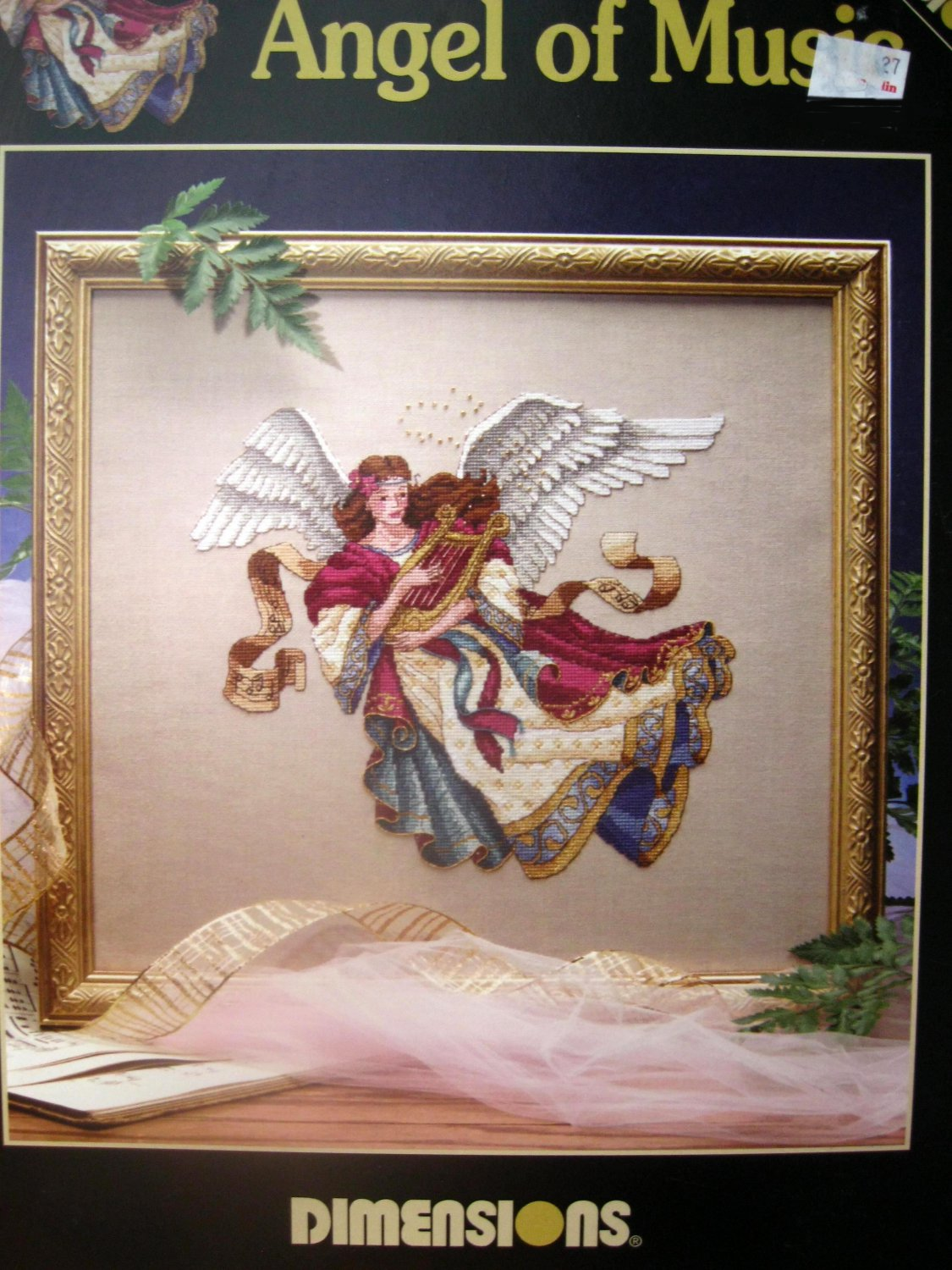 Dimensions  Angel of Music  James Himsworth Cross Stitch Pattern Chart