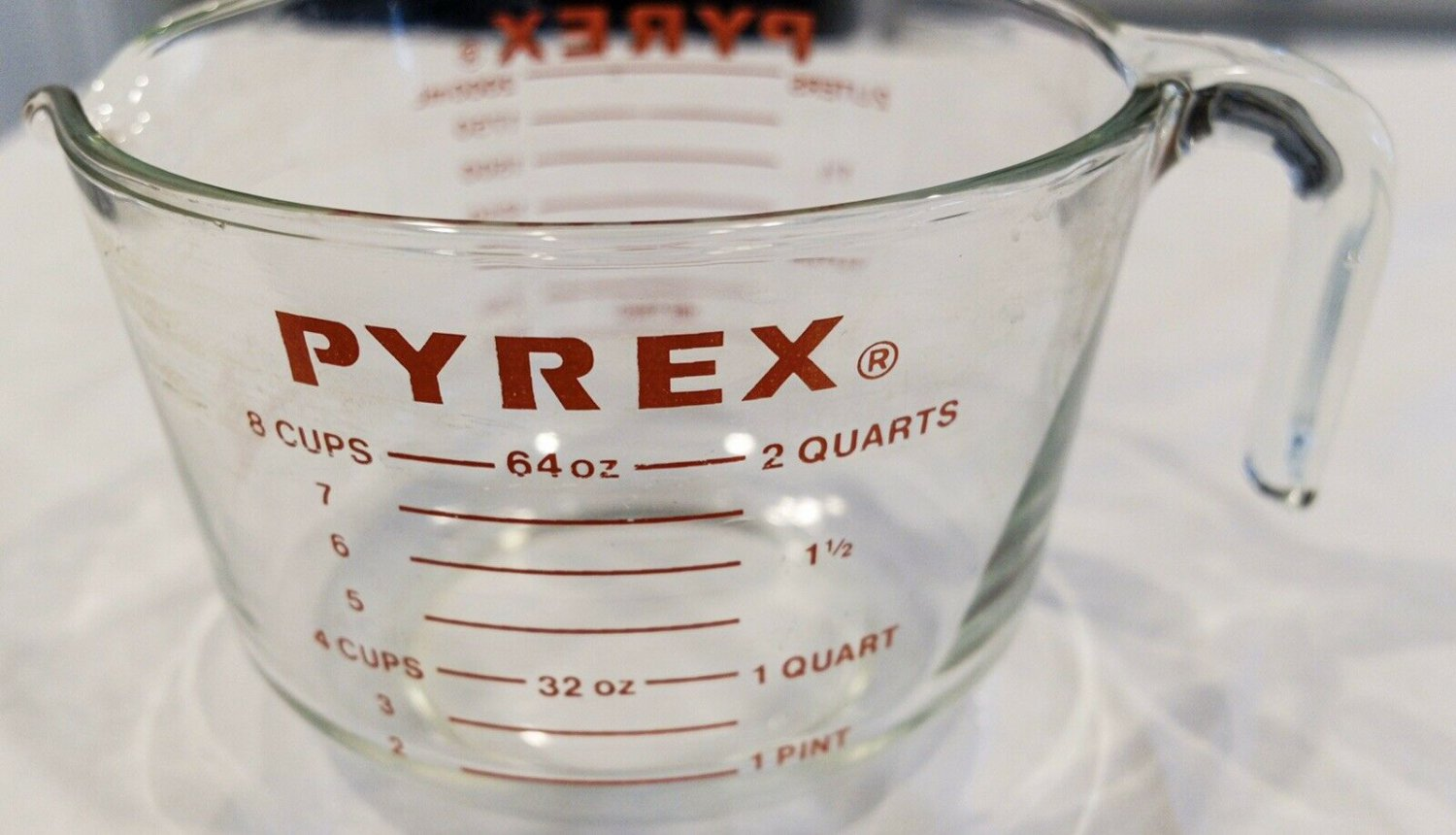 Pyrex Glass Measuring Cup 564 64 Oz 8 Cup 2 Quart 2