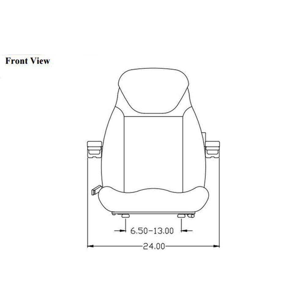 Seat Assembly for Komatsu Skid Steer CK30-1 CK35-1 SK714-5