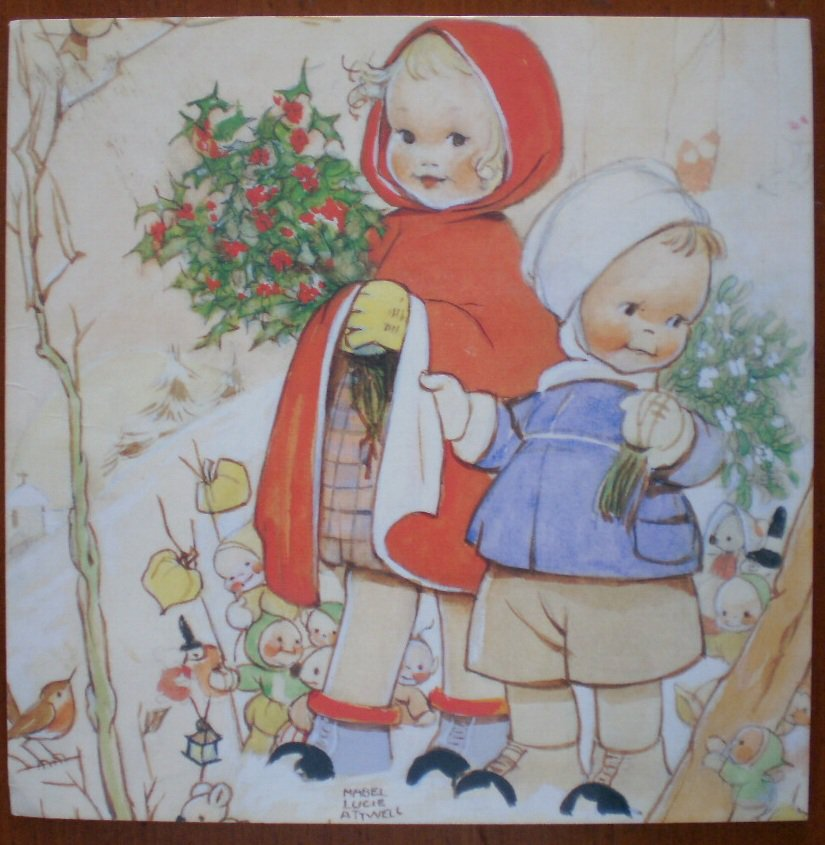 Mabel Lucie Attwell Note Card Barnardos 1999 The Christmas