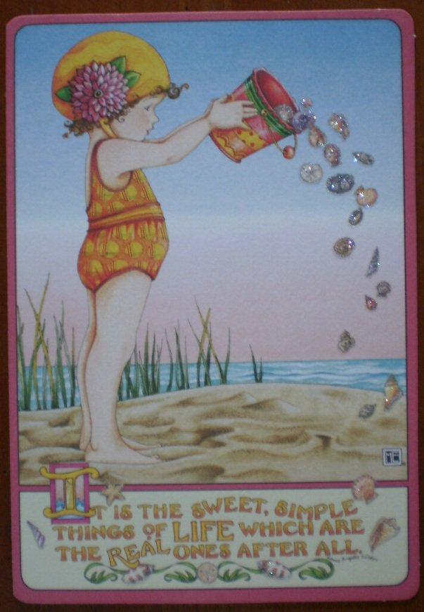 Mary Engelbreit Birthday Card Bucket Of Shells Sunshine