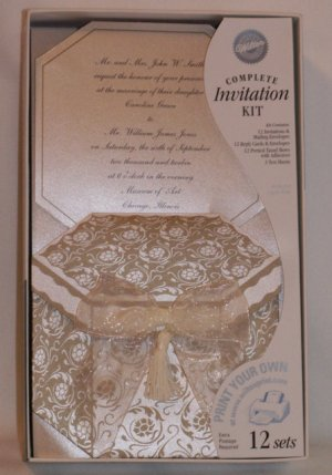 Wilton Invitations Printable Complete Kits Captivating Gold