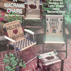 Macrame Lawn Chair Ergonomic Varier Chairs Pattern Country Comfort Plaid