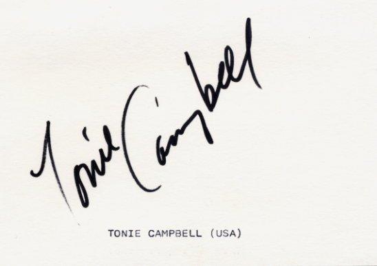 1988 Seoul Athletics 110m Hurdles Bronze TONIE CAMPBELL