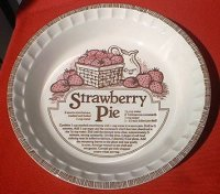 ROYAL CHINA BY JEANNETTE STRAWBERRY PIE RECIPE BAKING DEEP ...