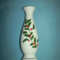 Tall Kitchen Bags Pantry Organization Ideas Christmas Vase~white Porcelain~made In Japan~holly And Red ...