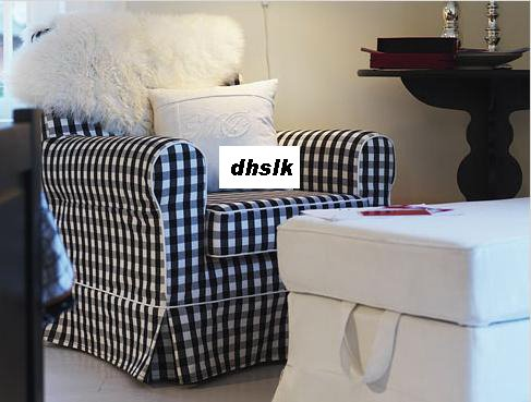 ikea jennylund chair covers uk desk cushion ektorp armchair slipcover cover stoarp black white checks